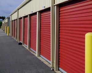 A row of storage units at All Around Self Storage